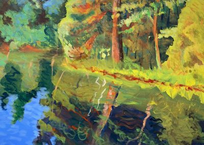 "Hazlehurst Inlet no. 3, Acrylic on Canvas, 16"" x 20"", $500"