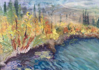 """Bemidji State Park Bog no. 3, 30"""" x 40"""", $700"""