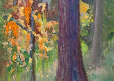 """Rainy Day in Bemidji, Acrylic on Canvas, 24"""" x 18"""", $600"""