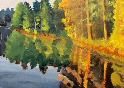 """Hazlehurst Inlet no.2, Acrylic, 16"""" x 20"""", Sold"""