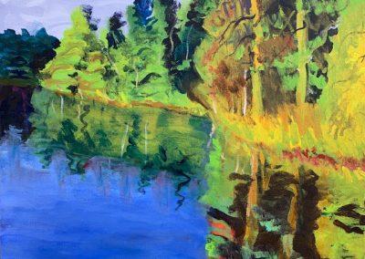 """Hazlehurst Inlet no. 4, Acrylic, 16"""" x 20"""", $500"""
