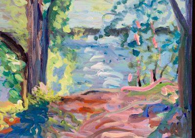 Gillian Bedford, Acrylic Painting, Lake Bemidji