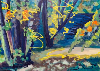 "Gillian Bedford, Lake Bemidji no. 4, Acrylic on Linen, 20"" x 30"", $600"