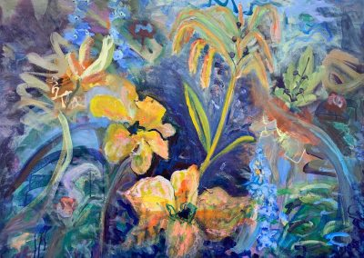 """Gillian Bedford, My One Precious Life and I'm Going to Paint, Acrylic and Oil on Canvas, 30"""" x 40"""", Sold"""
